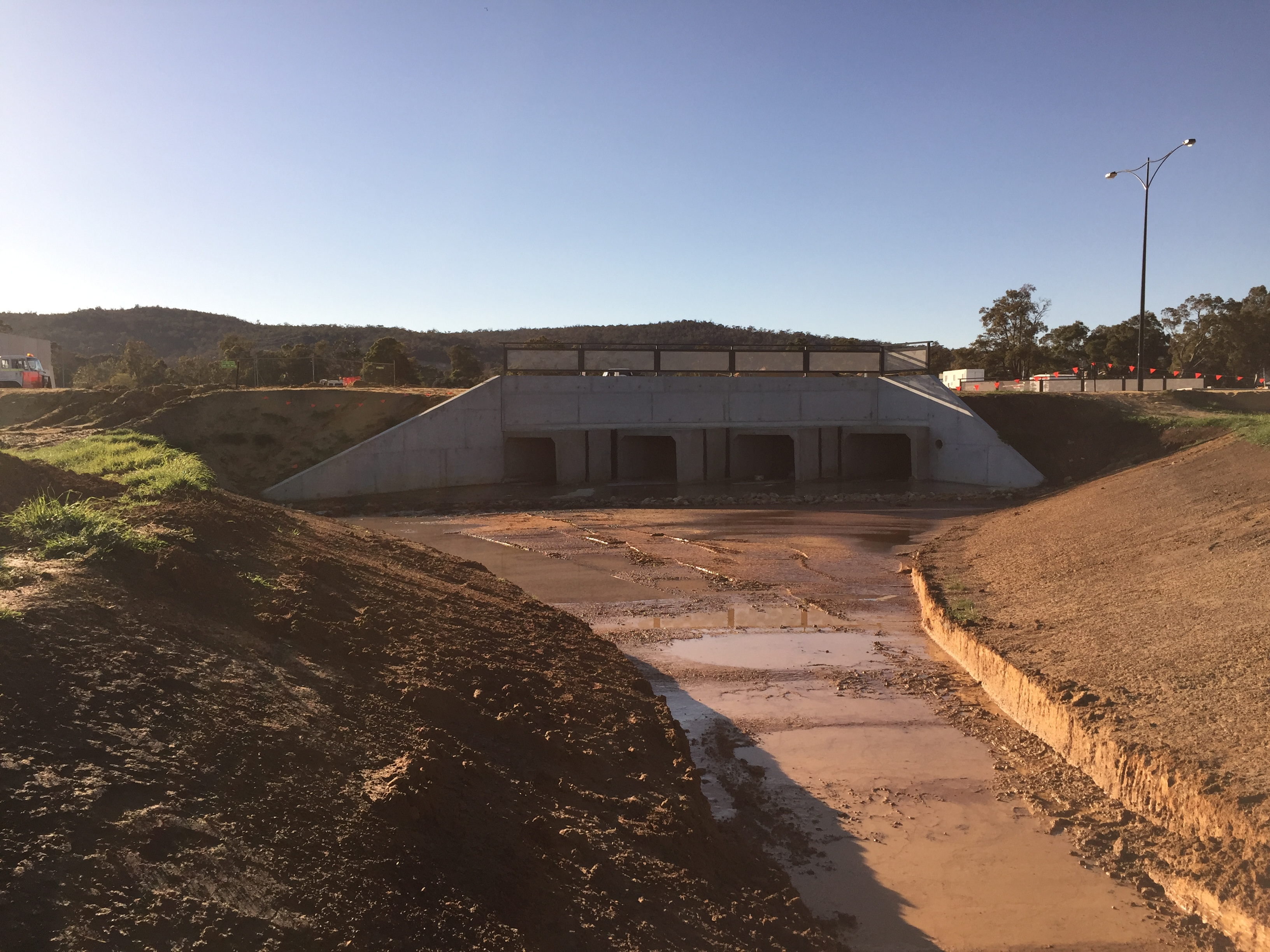 Completion of Skewed Box Culvert Structure | Serling